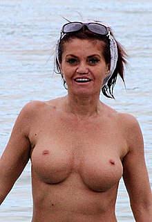 Danniella Westbrook nude boobs on a beach