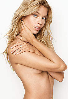 Stella Maxwell in sexy lingeries and braless