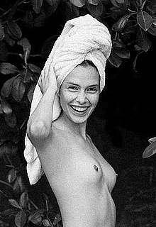 Zoe Barnard sexy and topless b-&-w images